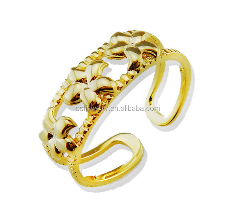 pure silver toe ring jewellery unique design gold plated toe ring