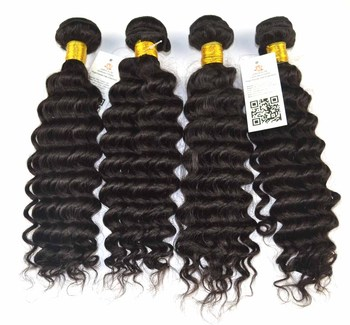 Queen Rose Deep Wave 5A Quality Hair Extensions Weft Weave Virgin Curly Bundle Hair