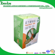 OEM factory Bamboo Detox rose Foot Patch with CE FDA NO.1 bamboo detox feet patch