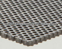 For screening grains seeds coal sands gravels and chemical products square perforated metal
