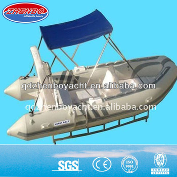 4.2m Fiberglass RIB inflatable rigid hull fiberglass Boat For Sale RIB420