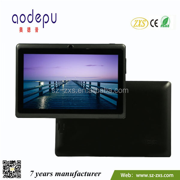 lowerst factory price!!! 7inch Allwinner A33 Q88 tablet pc 3d movies plane table made in china ZXS-Q88