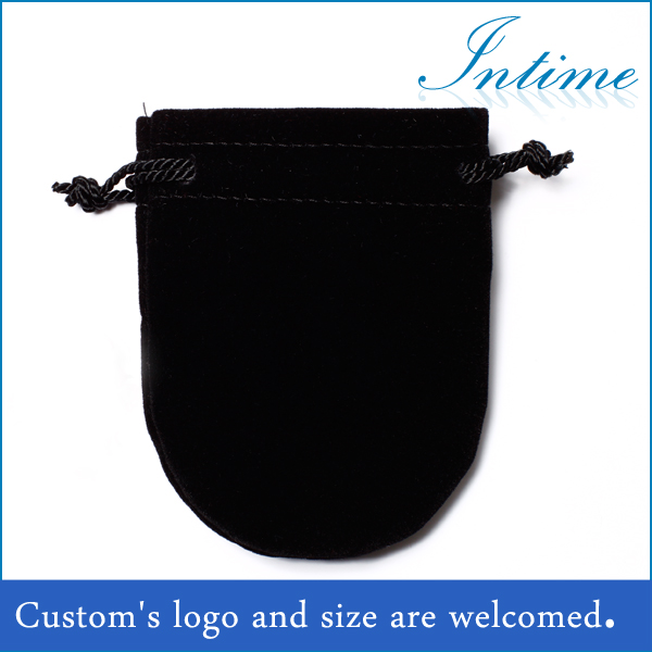 Drawstring Flannelette Bag For Cufflinks Packing custom printed jewelry pouches