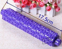 Plastic purple fondant Rolling Pin with decorative pattern