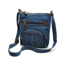 China supplier custom design cheap promotion fashion single strap leisure jeans shoulder bag