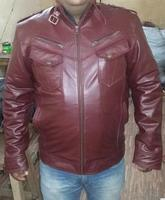 New stylish Genuin Lether MotorBike Fashinable Men Leather Jacket
