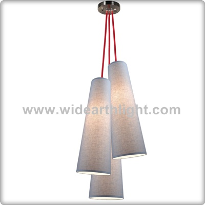 UL Listed Fabric Shades Hanging Lamp With 3 Lights For Indoor C90003