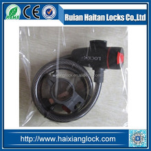 HX-039 Bicycle lock with Ring type dust-proof cover clamp aluminum core, iron key