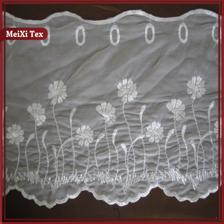 tulle crushed lace curtain fabric valance with embroidery for window,embroidery macrame lace curtains