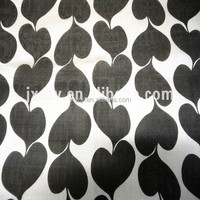 6mm silk chiffon printed silk fabric black love heart print design