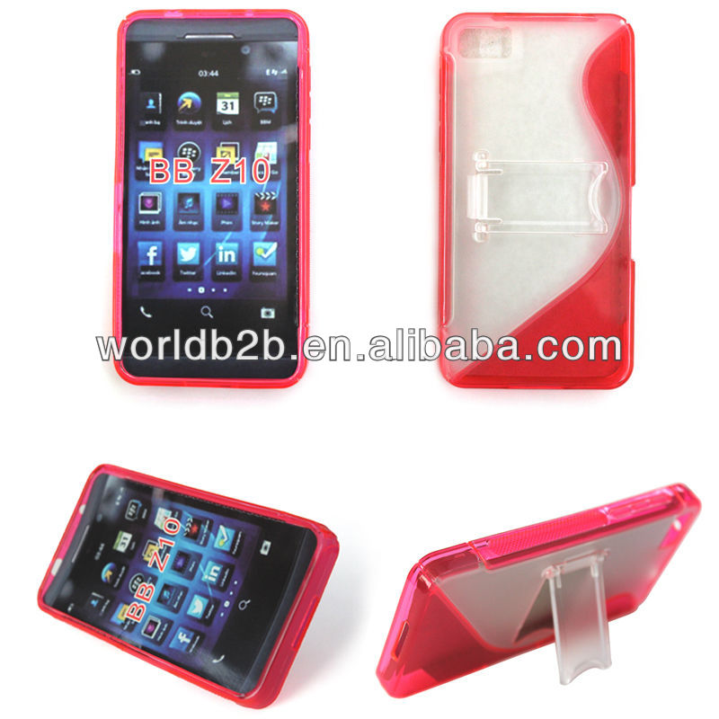 """S"" Design TPU & Crystal Stand hard Case for blackberry z10"