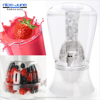 Plastic beverage dispenser with infuser Drinks dispenser with infuser and ice