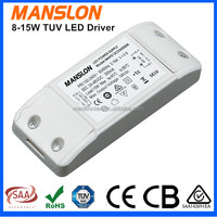TUV approval constant current 300mA 500mA 700mA power LED driver 8W-15W LED power supply switching