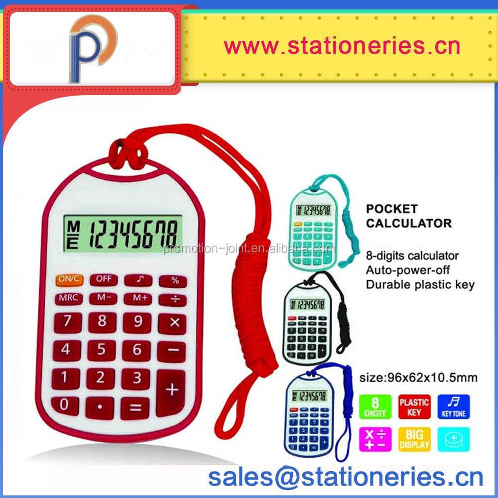 Mini Pocket Calculator Battery Cell Promotional Gift Calculator 8 digit electronic calculator