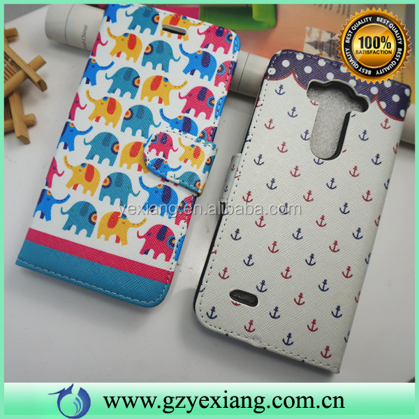 Money Pocket Card Slot Book Style Leather Flip Case Cover For LG G3 Beat Case