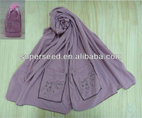 100% warm pocket polyester warm Shawl