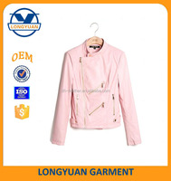 pink cheap custom varsity ladies leather jacket