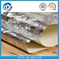 Professional printing 3d pvc silver wall paper manufacturer in China