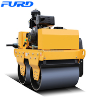 Best Condition 550kg Double Drum Vibrating Walk Behind Roller (FYL-S600C)