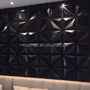 PVC 3D Wall Panels Textured Design Board, White, 12 Tiles 32 Sq Ft