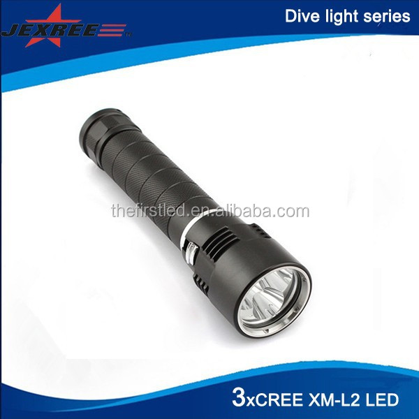 Scuba diving equipment 3xCree XM-L2 LED Rechargeable 3000lm Dive and Search light