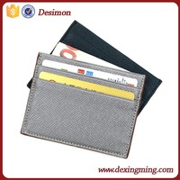 Handmade Genuine Leather Unisex Slim Card Case Super Thin Fashion Card Holder With ID Card Wi ndow