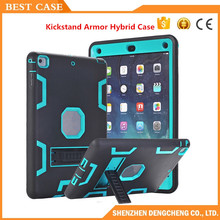 Hybrid Armor Case For iPad Air Kids Safe Shockproof Heavy Duty Silicone Rubber Hard Case Cover Screen Film & Stylus Pen