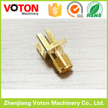 50ohm SMA female edge mount rf connector for PCB 1.8mm thickness
