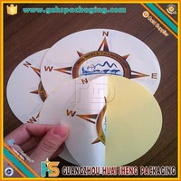 Double side printed flexible mirror sticker for car window