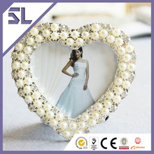 Cheap Heart Shape Pearl Frame Toy Photo for Wedding Decoration Made in China