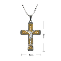 Gold Plated Jesus Cross Necklace Christian Necklace Jewelry For Praying