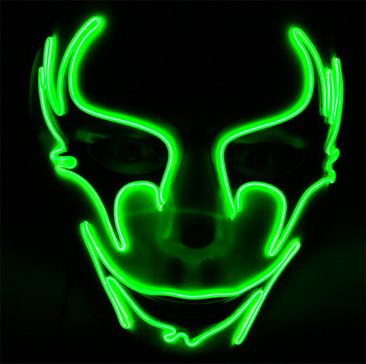 2018 halloween latex mask led party mask