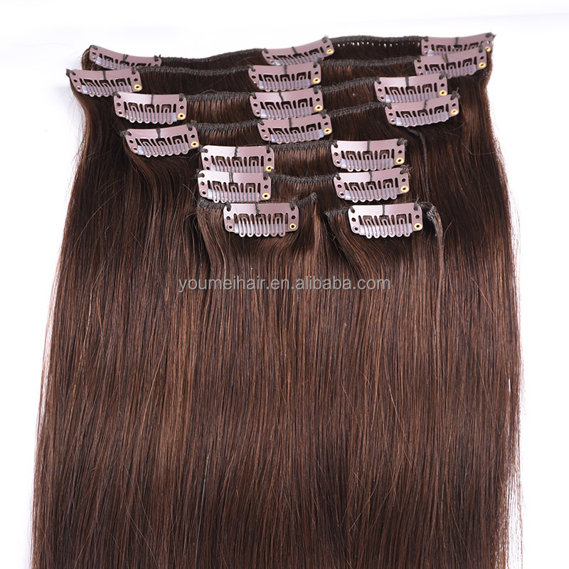 Wholesale 8a Quality Remy Human Hair Clip In Hair Extension, 100Virgin Human Hair