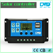 40A LCD USB 5V Solar Charge Controller 12V 24V Dual timer Control Solar Panel Batteries Charger PWM