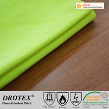 cotton/polyester fluorescent fire resistant fabric