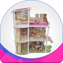 Toys for kids lego with three floor wooden house