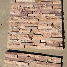 Hot sale stacked outdoor red stone tiles exterior decorative wall