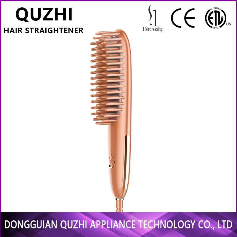 mini straightener brush comb ceramic coating hair salon equipment high tech