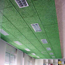 Different types of polyester fiber acoustic ceiling board for studio