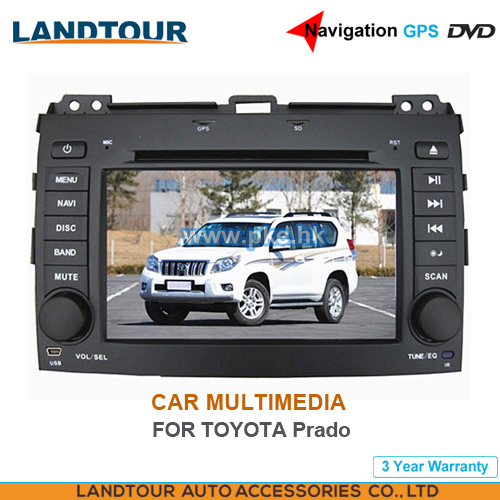 Car multimedia 7Inch Navigation GPS DVD for toyota Prado 2005-2009 CE FCC ROHS