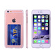 New Arrival Ultra Thin Crystal Transparent Clear TPU Case For iPhone 7 With Card Holder