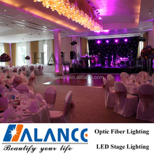 Fiber optic lighting stage curtain,black star stage curtain