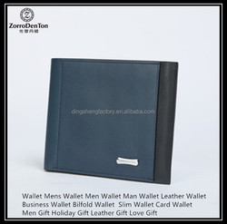 Men's holiday gift natural leather wallet