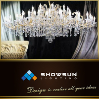 Guzhen discount LED gallery extra large cristal droplight wholesale