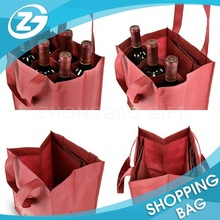 New Fashion Foldable Reusable Customized Made Divided Wine Tote Bag