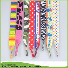 Custom Logo Printed Flat Shoelaces