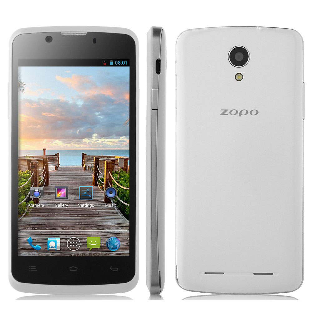 ZOPO ZP580 Smartphone Android 4.2 MTK6572W 3G GPS 4.5 Inch QHD Screen- White