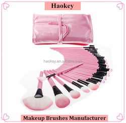 32 PCS Hotsale Wool Makeup Brushes Tools Set with PU Leather Case Cosmetic Facial Make up Brush Kit