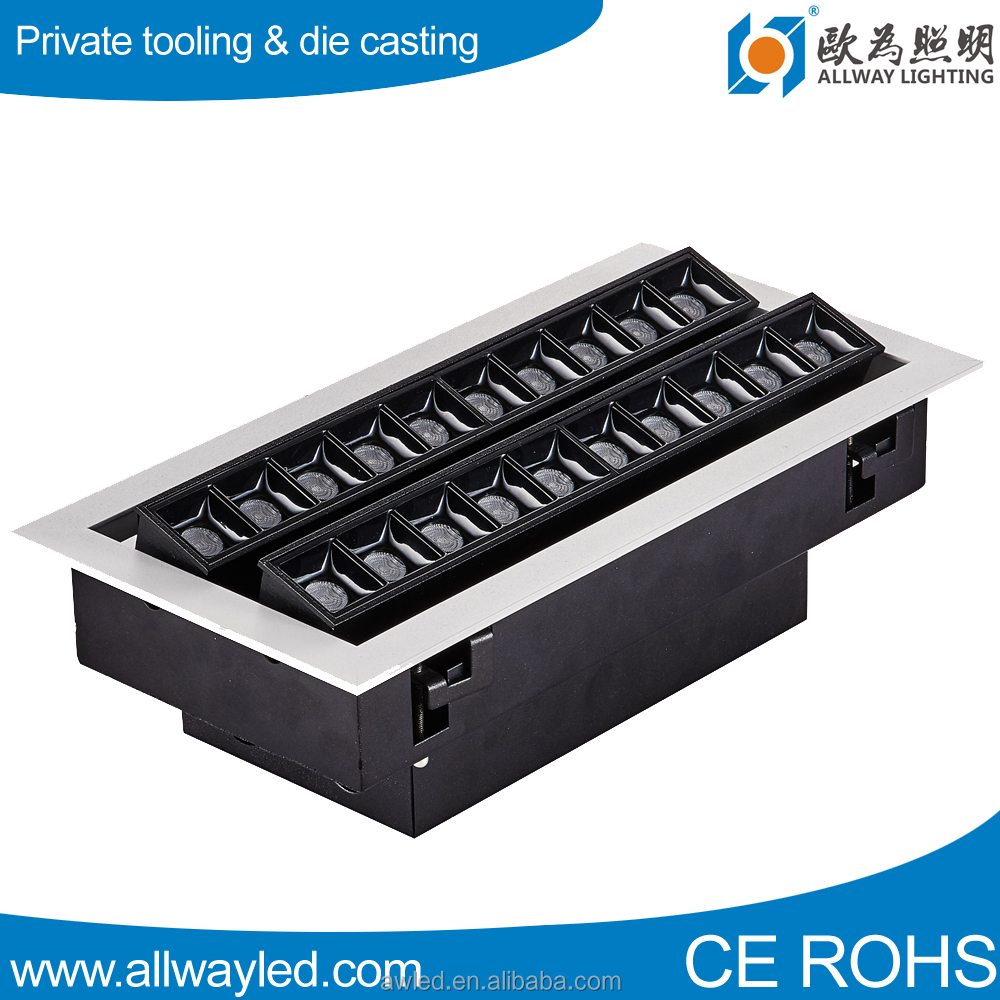 RA90 20W 30W 40W 60W die casting <strong>aluminum</strong> Linear LED Grille Light