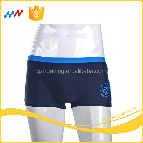 Boys Deep Blue Swimwear Children Swimming Trunks